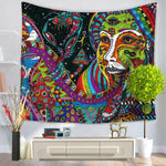 Psychedelic Hippie Woman Mandala Tapestry