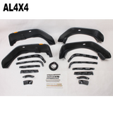 Aircraft style extra wide fender flares for Jeep wrangler JK
