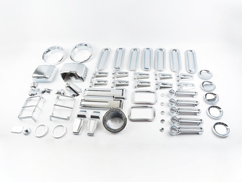 77 pcs Chrome kits for Jeep Wrangler JK