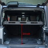 Maiker Interior Rear Cargo Basket Rack Aluminum Alloy Luggage Storage Carrier for 2007-2017 JK Unlimited Sahara Sport Rubicon