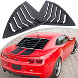 ABS Rear Side Window Scoop Cover Vent Lambo GT Style Louvers for 2010-2015 Chevy Camaro LS LT RS SS GTS
