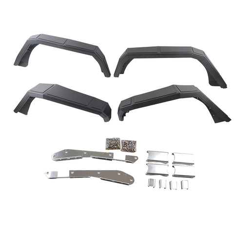 Maiker cobra style fender flares for 2007-2017 jeep wrangler jk, 4pcs