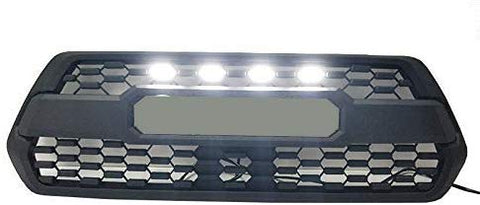 Maiker fit for TACOMA TRD Grille LED White Lights Fit for TACOMA TRD Grille 2016 2017 2018(4units,White)