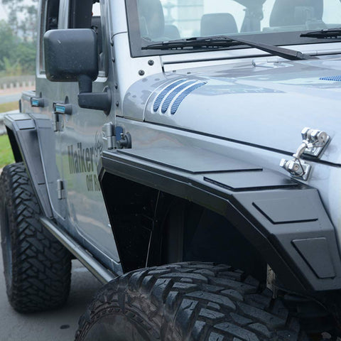 MAIKER Cobra Style Fender Flares for 2007-2018 Jeep Wrangler JK & Unlimited Aluminum Alloy - Set of 4