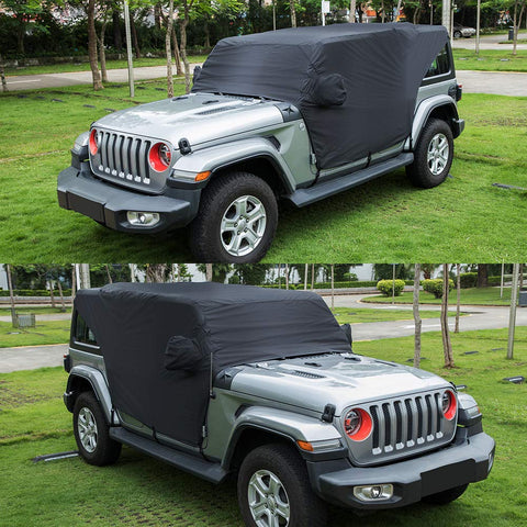 Maiker Car Cab Cover 82215370 Waterproof Protection Cover for Jeep Wrangler JL JLU 4 Door,Black