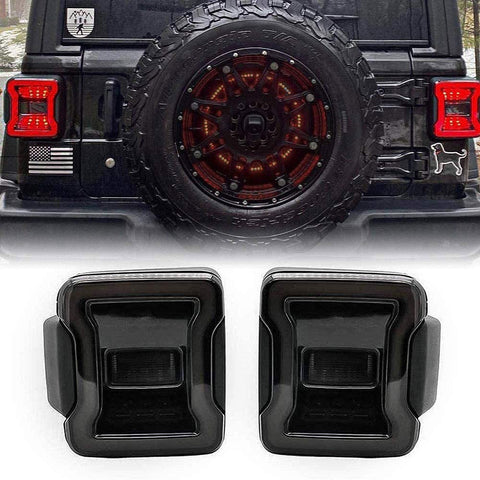 MAIKER Smoked LED Tail Lights for Jeep Wrangler JL JLU 2018-2020 Brake Light Reverse Light Turn Signal Light