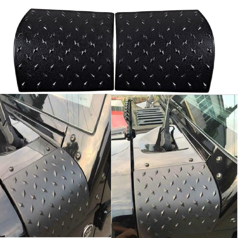 2017 Jeep Wrangler Unlimited Accessories >> Maiker Black Body Armor Cowl Cover For Jk Rubicon Sahara Sport X Unlimited 2 4 Door 2007 2017 2 Pcs Exterior Accessories Parts