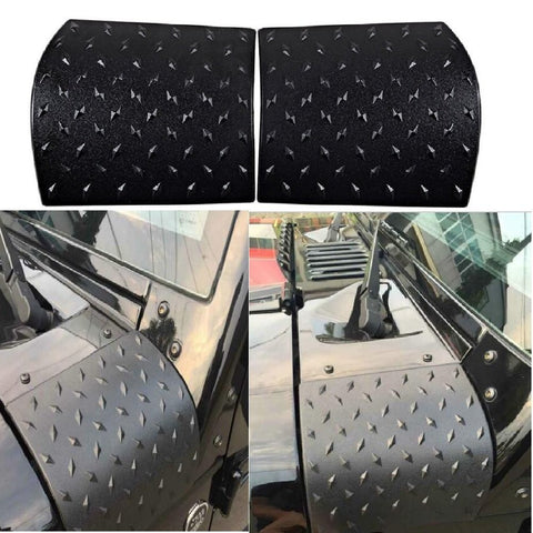 MAIKER Jeep Wrangler Black Body Armor Cowl Cover for JK Rubicon Sahara Sport X & Unlimited 2/4 Door 2007-2017, 2 Pcs Exterior Accessories Parts