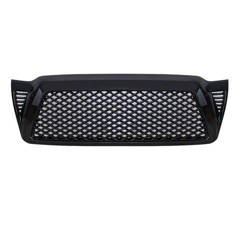 MAIKER Gloss Black Front Grille Mesh Type Bumper Grill Cover Fits for Toyota Tacoma 2005-2011