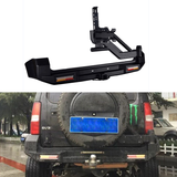 4x4 Rear Bumper for Suzuki Jimny bull bar with tire rack and led light