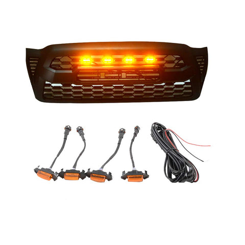 MAIKER  Grille LED Amber Lights Fit for Tacoma Grille 2005-2011 (Yellow)