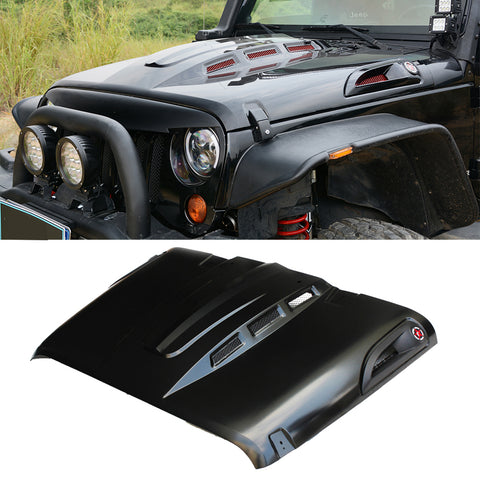 MAIKER The Avenger Style Heat Reduction Hood for Jeep Wrangler JK  2007-2017