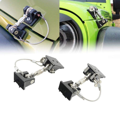 MAIKER Hood Latch Locking Hood Catch Kit for Jeep Wrangler JK 2007-2017, 1 Pair