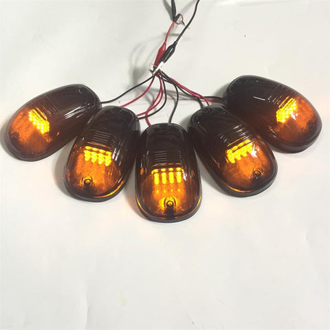 5 Pcs Led Amber Running Lights Fit For LC FJ Cruiser Tundra 4Runner Tacoma Hilux