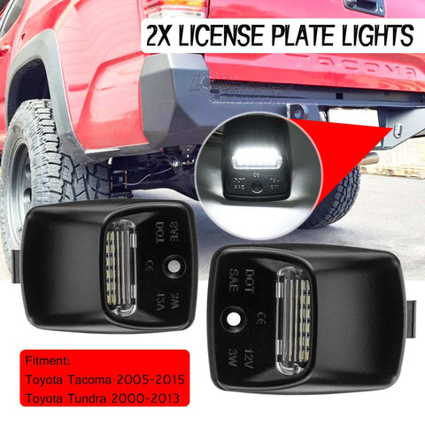 2PCS 12V LED Number License Plate Light Lamps for Toyota Tacoma Tundra 2005-2015