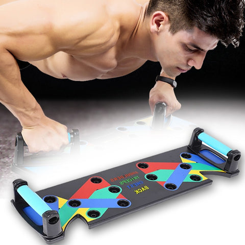 9 in 1 Push Up Rack Board Exercise at Home Body Building Comprehensive Fitness Equipment Gym Training for Both Men Women