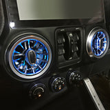 MAIKER 4x led Illuminated Turbo air ac vent purifier For 2011-2017 Jeep Wrangler JK