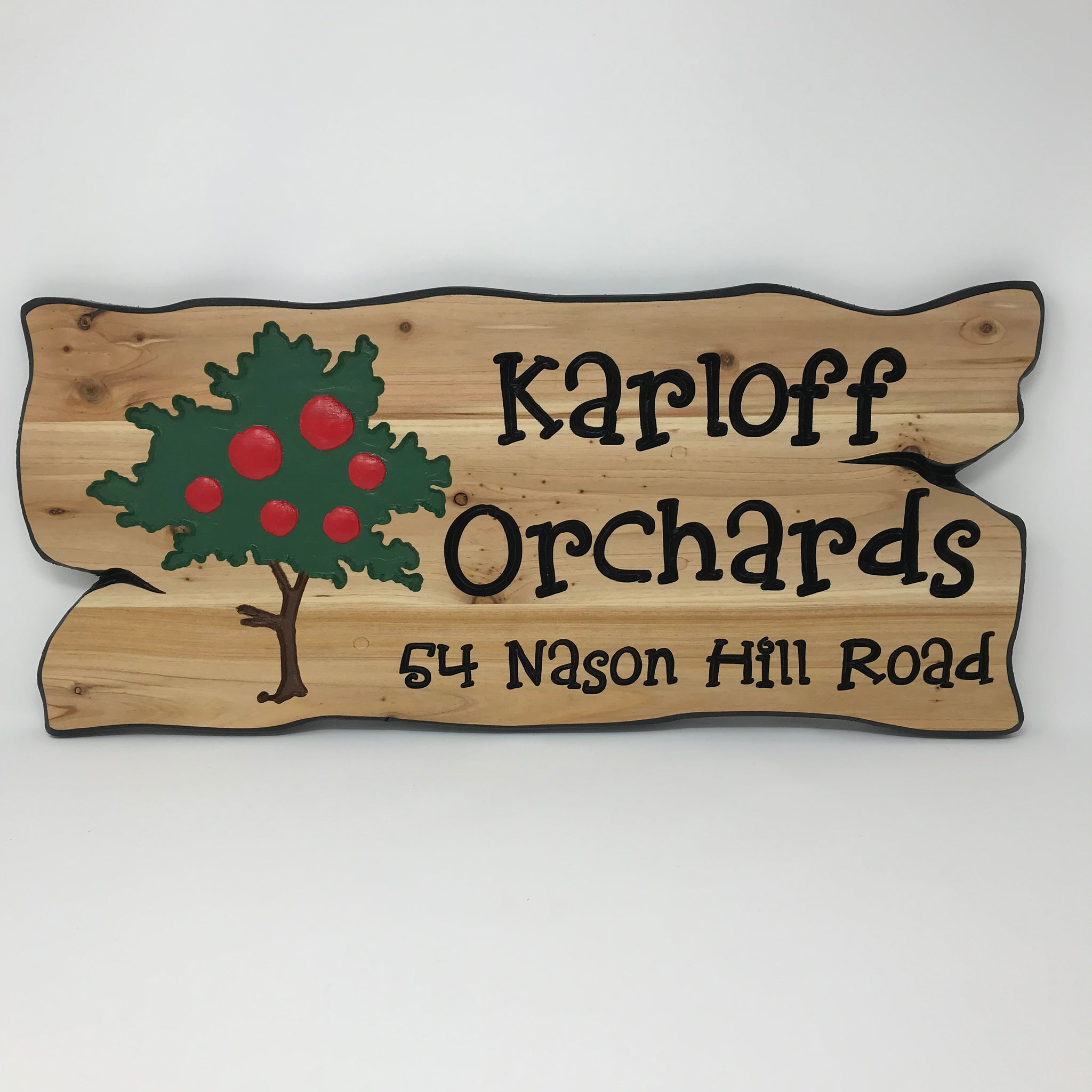 Apple Tree Personalized Family Name Sign