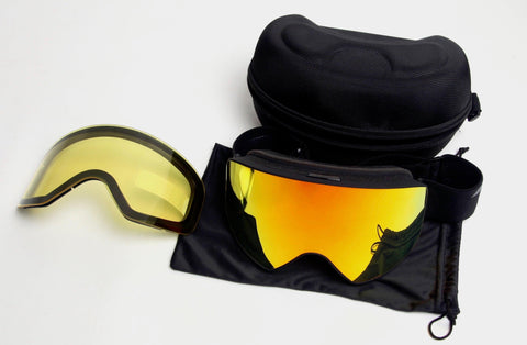 Telos Polarized Team Goggles with Extra Yellow Lens, Bag and Hard Case