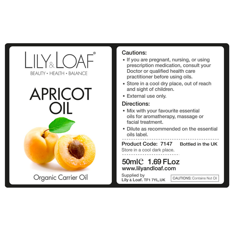 Apricot Organic Carrier Oil 50ml