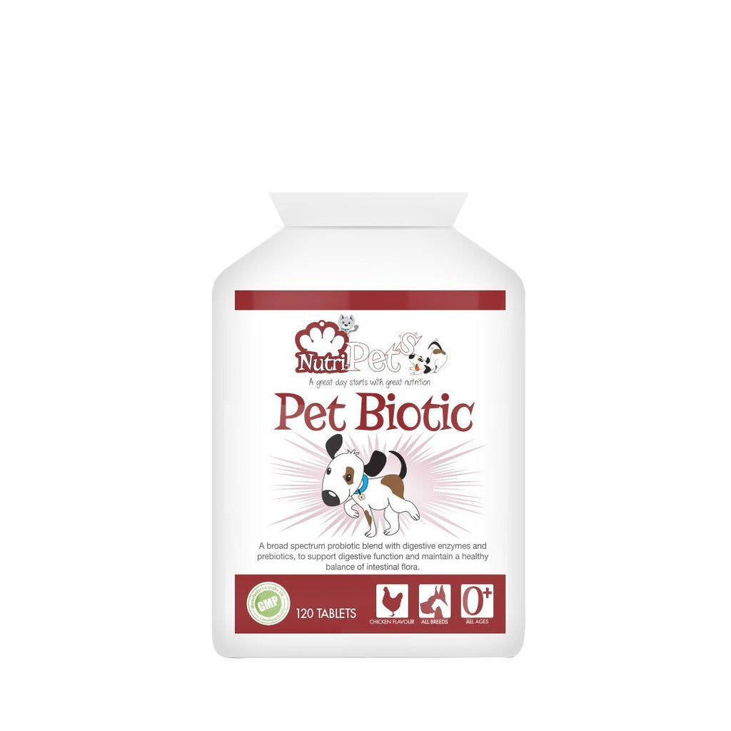 Nutri-Pets Pet Biotic (120 chewable chicken flavour tablets)