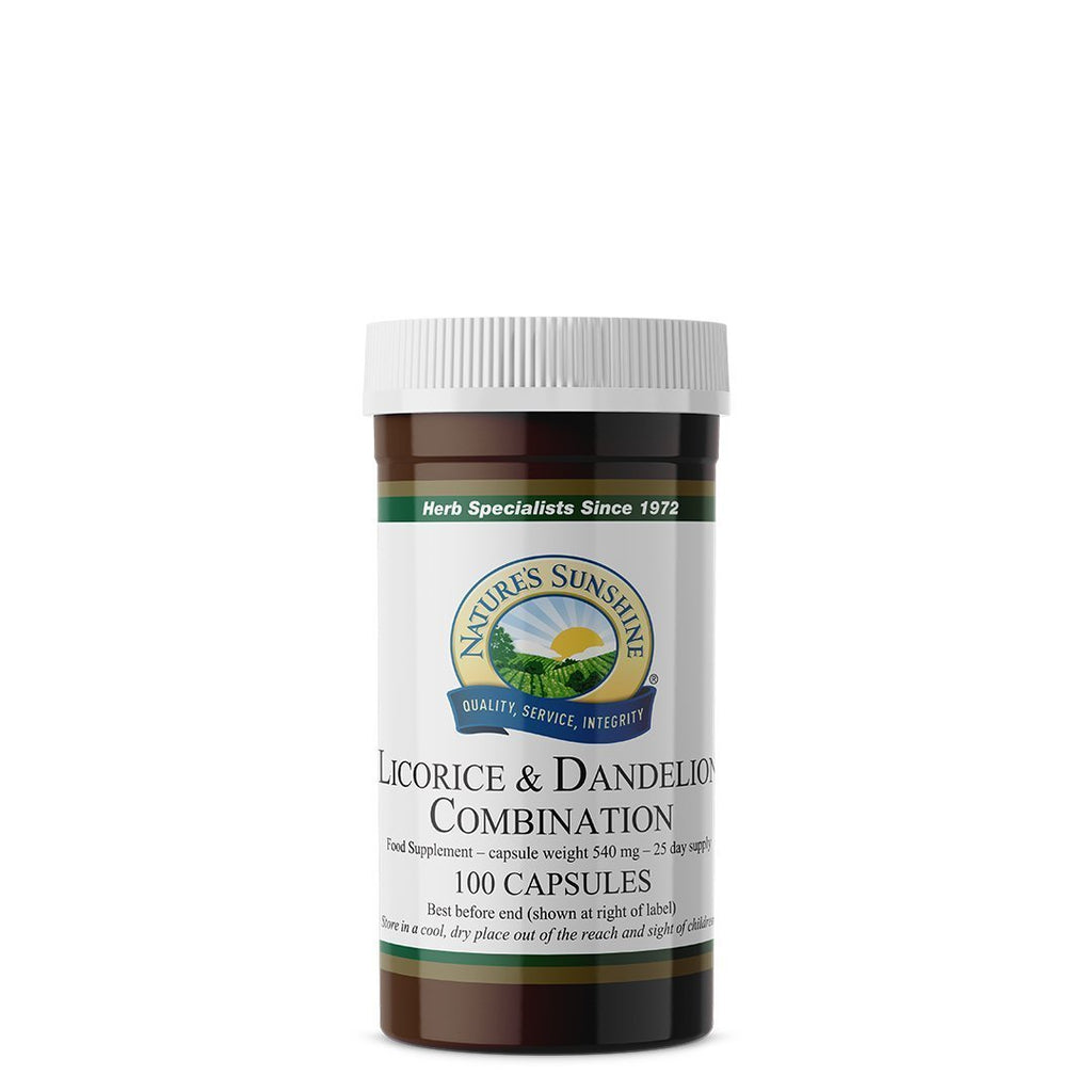 Nature's Sunshine Licorice & Dandelion Combination (100 capsules)