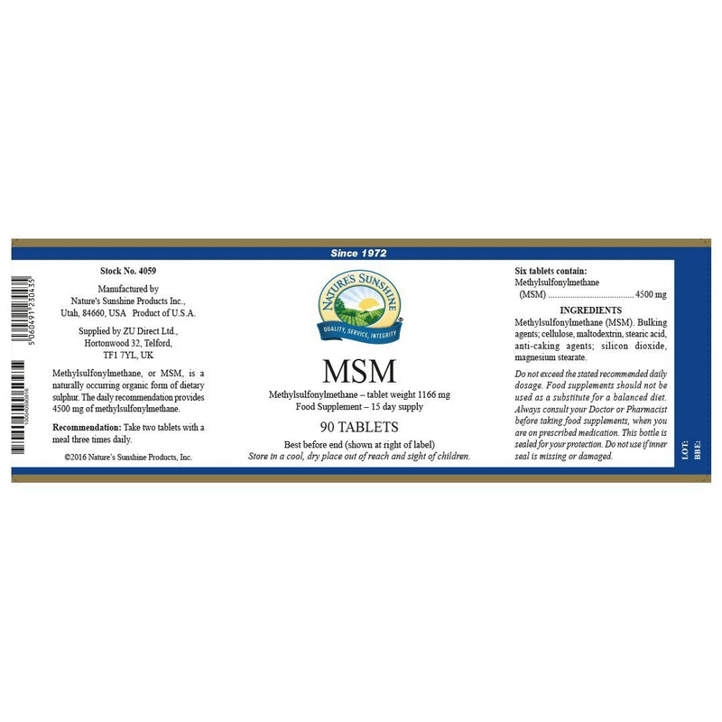 Nature's Sunshine MSM (90 tablets)