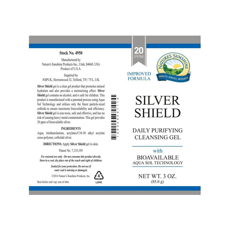 Nature's Sunshine Silver Shield Gel® (85g tube)