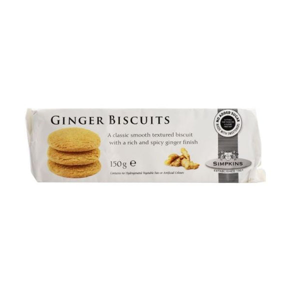 Simpkins Ginger Biscuits SF - Contain Acesulfame K