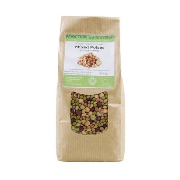 Aconbury Sprouts Organically Grown Mixed Beans & Pulses for Sprouting 500g