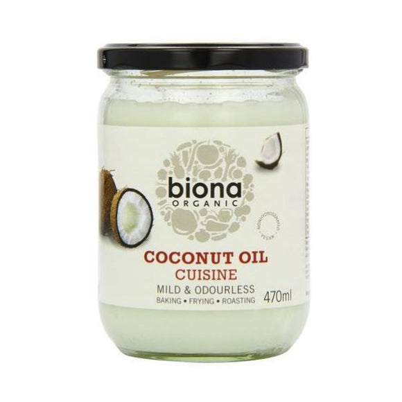 Biona Organic Coconut Oil Cuisine - Mild & Odourless 470ml