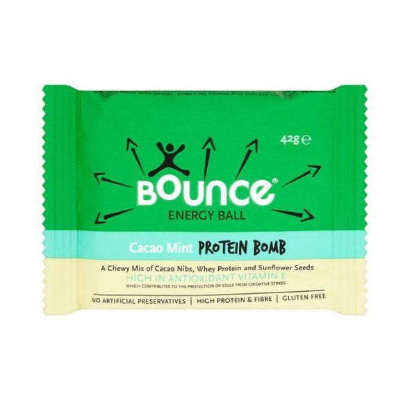 Bounce Cacao Mint Protein Bomb Energy Ball 42g 12 Pack