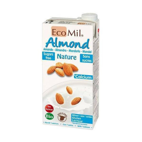 Ecomil Organic Almond Nature Calcium 1ltr 6 Pack