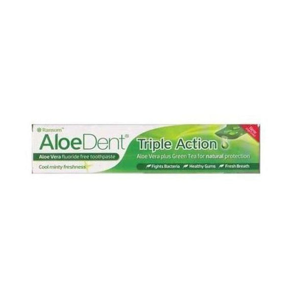 Aloe Dent Aloe Vera Toothpaste With Q10 & Tea Tree 100ml