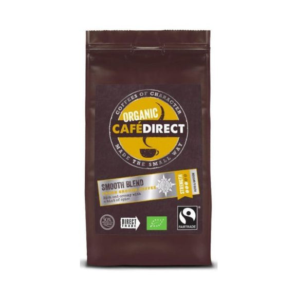 Cafe Direct - Fair Trade Organic Smooth Blend Ground Coffee 227g