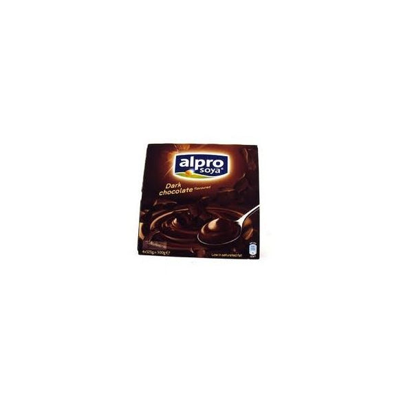 Alpro Dark Chocolate Dessert with Calcium 4x125g 6 Pack