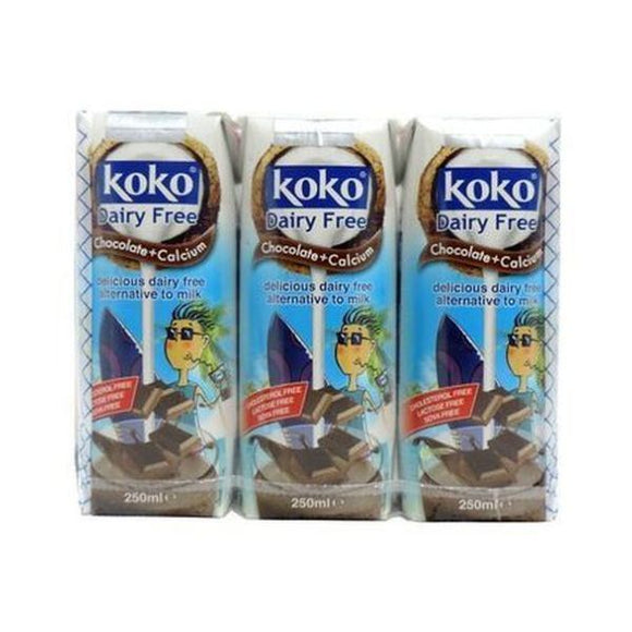 Koko Dairy Free Chocolate Plus Calcium - Triple Pack 3x250ml