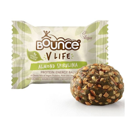 Bounce V Life Vegan Protein Energy Ball Almond Spirulina x 12 pack
