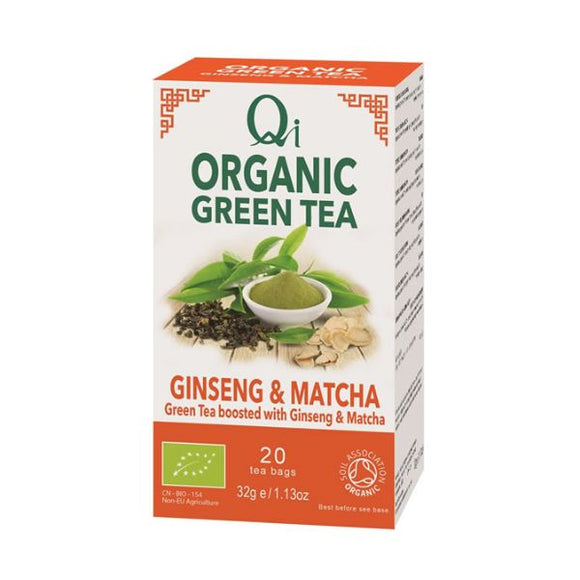 Qi Herbal Health Organic Green Tea Ginseng & Matcha
