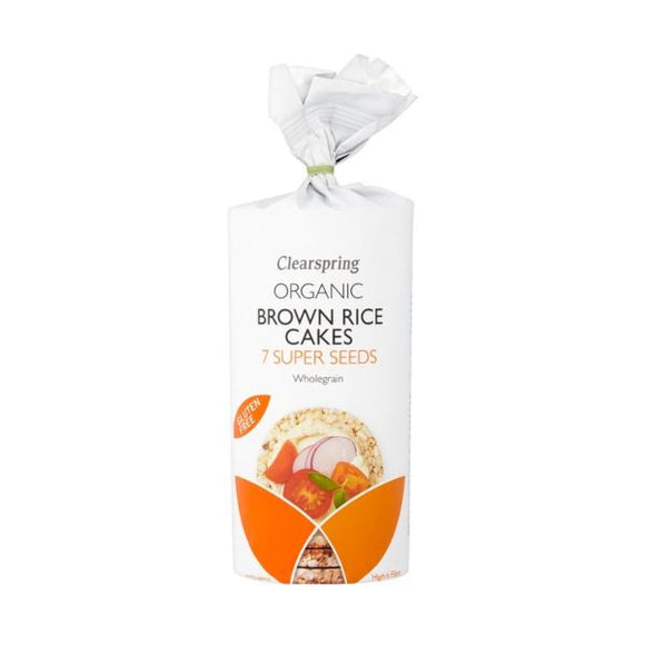 Clearspring Wholefoods Organic Brown Rice Cakes 7 Super Seeds x 6 pack