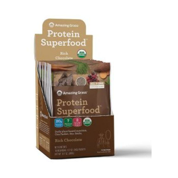 Amazing Grass Protein Superfood Rich Chocolate Sachet Box