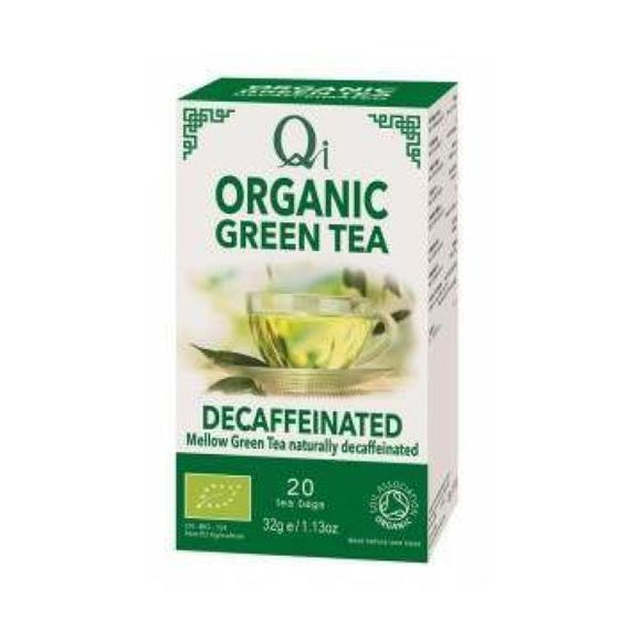 Qi Herbal Health Organic Decaffeinatedd Green Tea
