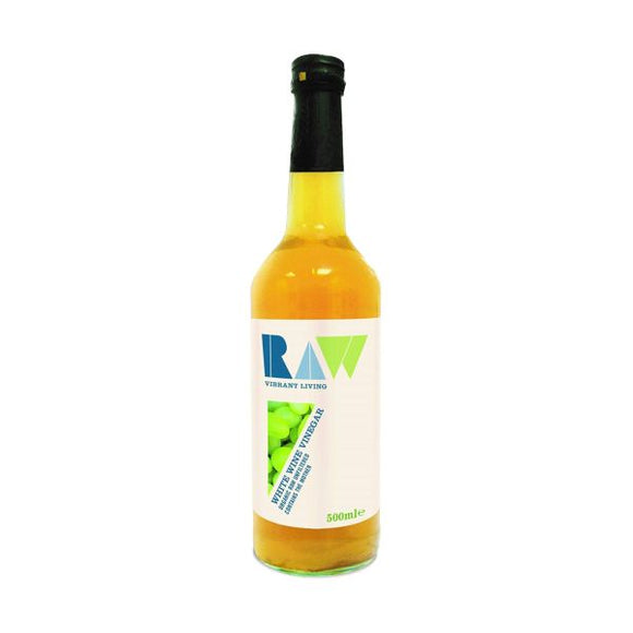 Raw Vibrant Living Raw Vibrant Living Raw White Wine Vinegar With The Mother Organic 500Ml