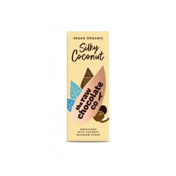 The Raw Chocolate Company Org Silky Coconut Bar 38g  x 10