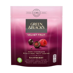 Green & Black'S Green & Black'S Velvet Fruit Raspberry 120G x 7