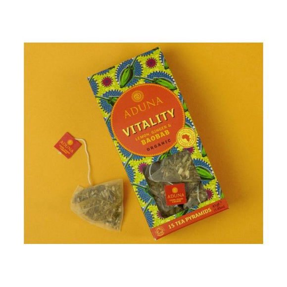 Aduna Organic Vitality Tea With Baobab, Lemon & Ginger 15Bags