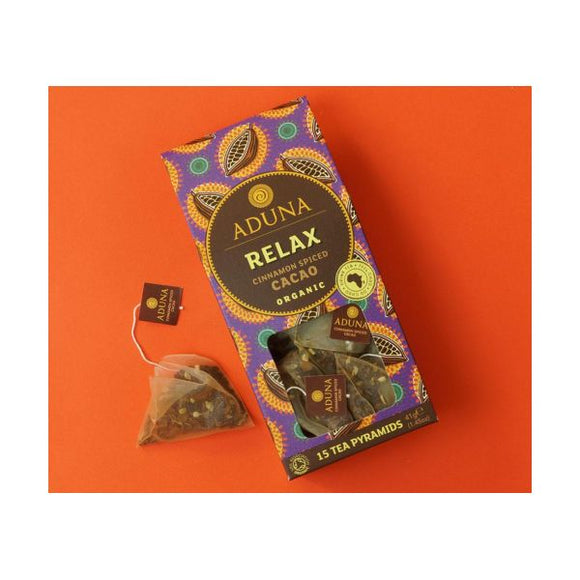 Aduna Organic Relax Tea With Cacao, Cinnamon Spiced 15Bags