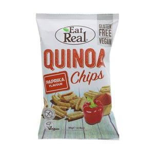 Eat Real Eat Real Quinoa Chips Paprika 80g  x 10