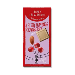 Happy Benjamino Happy Benjamino Almond Cranberry Wh 70g  x 10