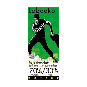 Zotter Chocolate Labooko 70/30% Milk Da 70g  x 10